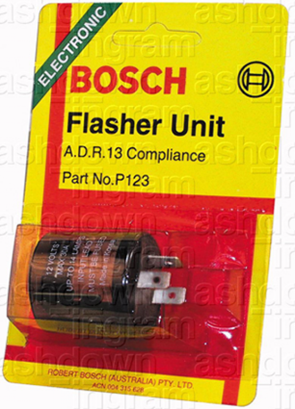 Bosch P123 - Flasher Relay 12V Electronic 89W - 3 Terminals