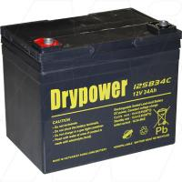 Drypower 12SB34C 12V, 34Ah Deep Cycle Battery