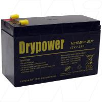 Drypower 12SB7.2P-F1 - 12V, 7.2Ah Sealed Lead Acid Batter for Cyclic and Standby