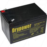 Drypower 12SB12P-F2 - 12V, 12Ah Sealed Lead Acid Batter for Cyclic and Standby