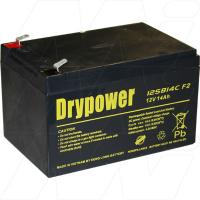 Drypower 12SB14C-F2 - 12V, 14Ah Sealed Lead Acid Battery for Cyclic and Standby