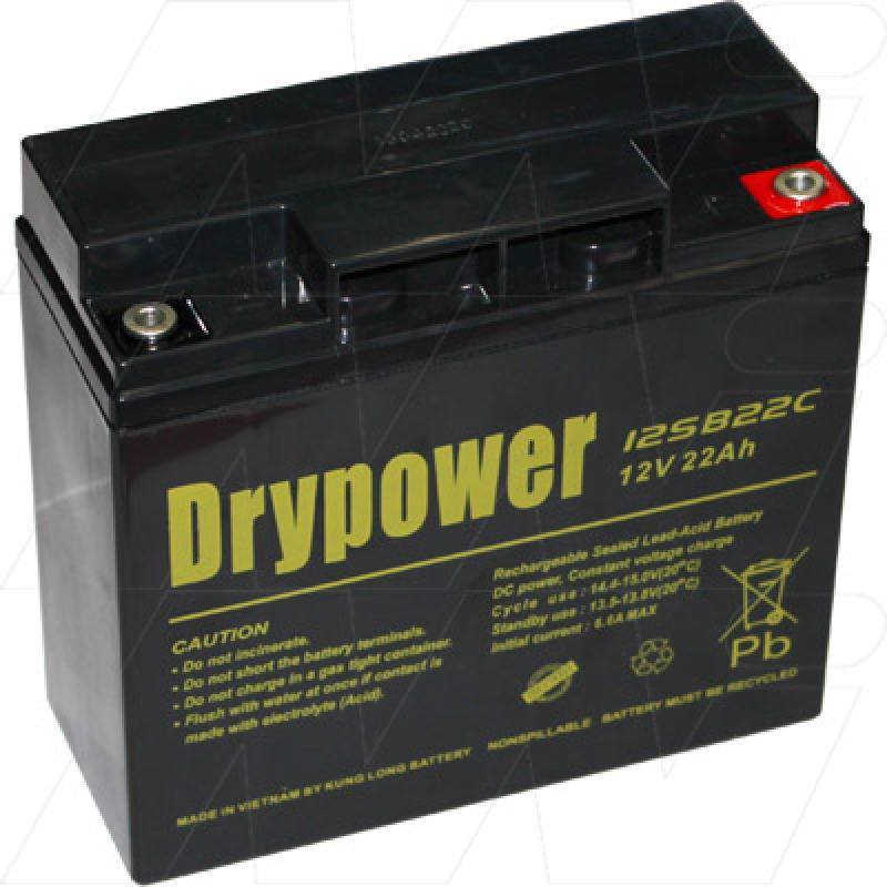 Drypower 12SB22C 12V, 22Ah Deep Cycle Battery