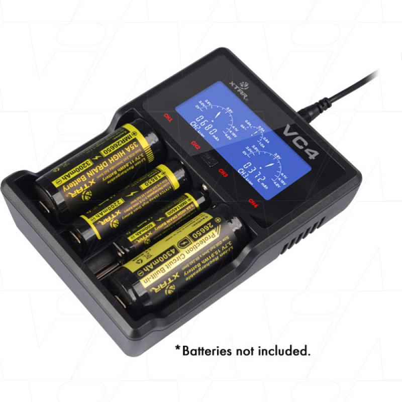 Xtar VC4 - 1-4 Cell Lithium Ion/NiMH Battery Charger