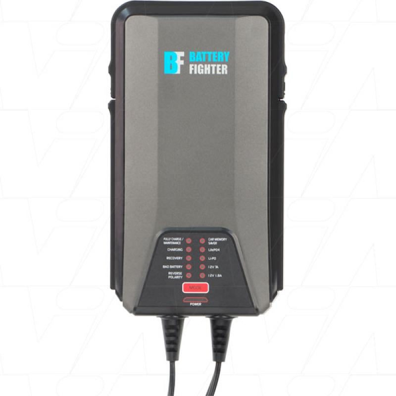 Battery Fighter 12V 1.8A/7A 9&4 Step Charger
