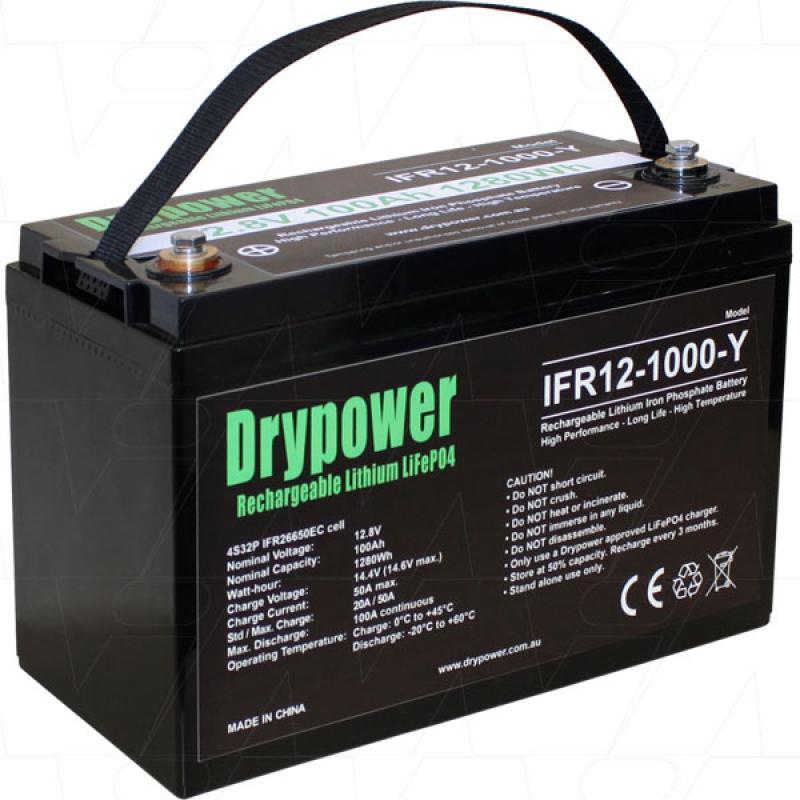 Drypower 12V 100Ah Lithium Iron Phosphate Battery
