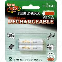 Fujitsu Rechargeable AAA 2Pk Low Self Discharge/1800 Recharges