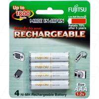 Fujitsu Rechargeable AAA 4pk Low Self Discharge/1800 Recharges