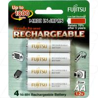 Fujitsu Rechargeable AA 4Pk Low Self Discharge/1800 Recharges