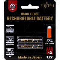 Fujitsu Rechargeable AAA 2Pk High Capacity Low Self Discharge/500 Recharges
