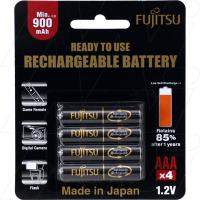 Fujitsu Rechargeable AAA 4Pk High Capacity Low Self Discharge/500 Recharges