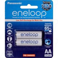 Panasonic Eneloop AA 2Pk Low Self Discharge/2100 Recharges