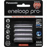Panasonic Eneloop AAA 4Pk High Capacity Low Self Discharge/500 Recharges