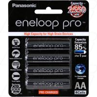 Panasonic Eneloop AA 4Pk High Capacity Low Self Discharge/500 Recharges