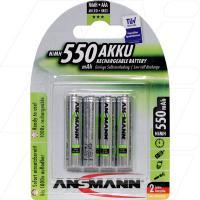 Ansmann Low Self Discharge AAA NiMH Battery 4Pk