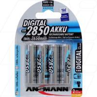 Ansmann Rechargeable High Capacity NiMH AA Battery 4Pk