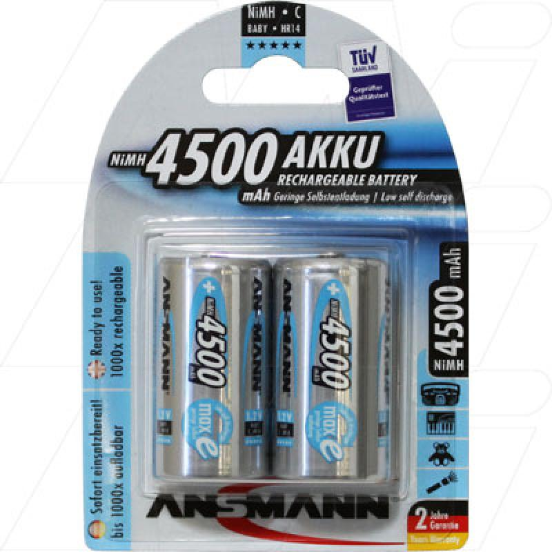 Ansmann Rechargeable High Capacity C Size Battery 2Pk