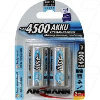 Ansmann Rechargeable High Capacity C Size Battery 2Pk