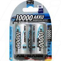 Ansmann High Capacity D Size NiMH Rechargeable Battery