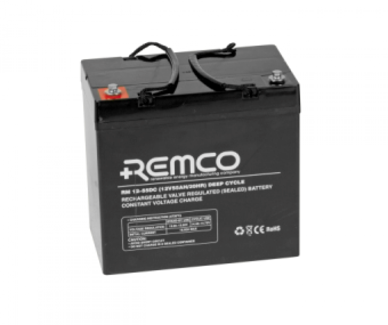 Remco 12V 55Ah Deep Cycle SLA/AGM