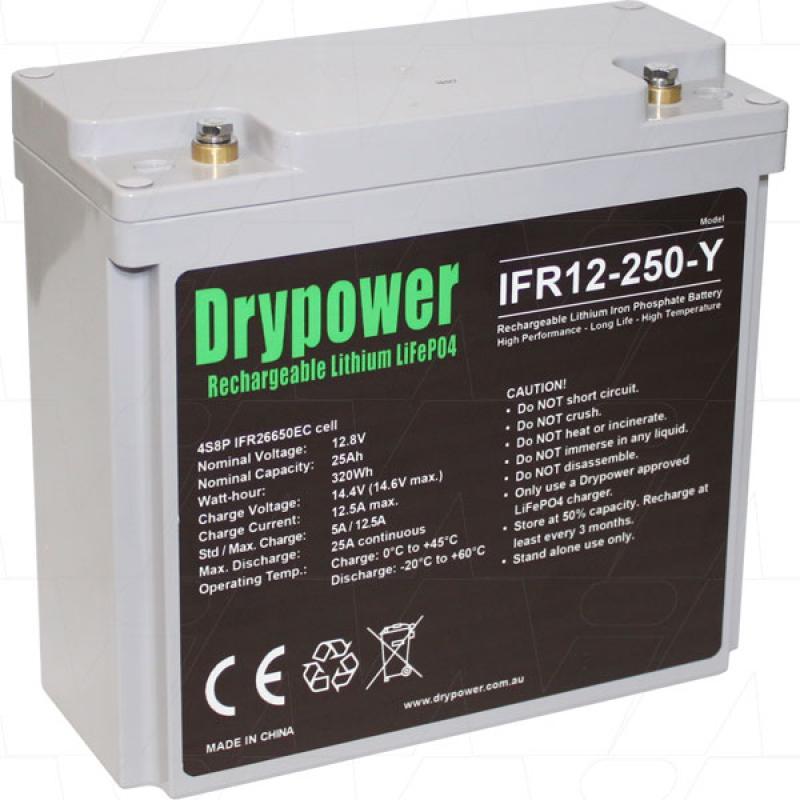 Drypower 12V 25Ah Lithium Iron Phosphate Battery
