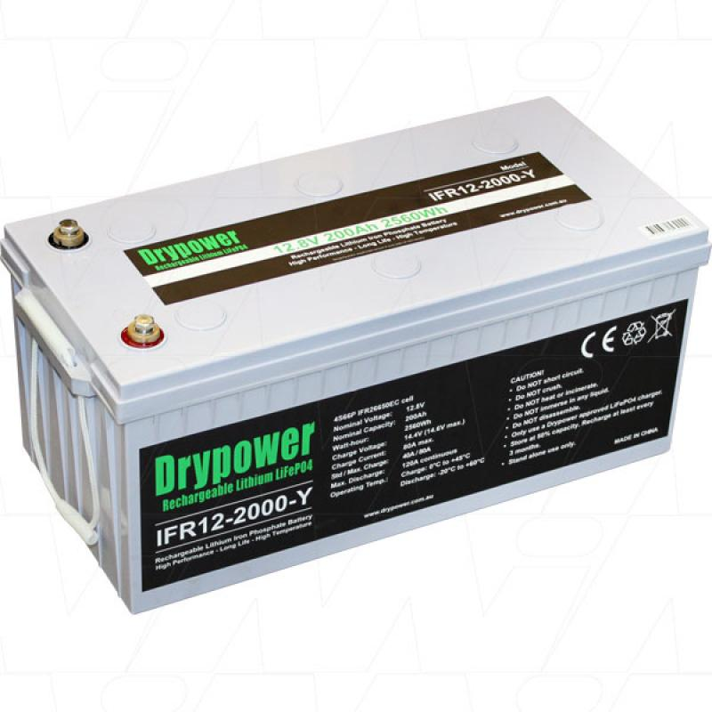 Drypower 12V 200Ah Lithium Iron Phosphate Battery