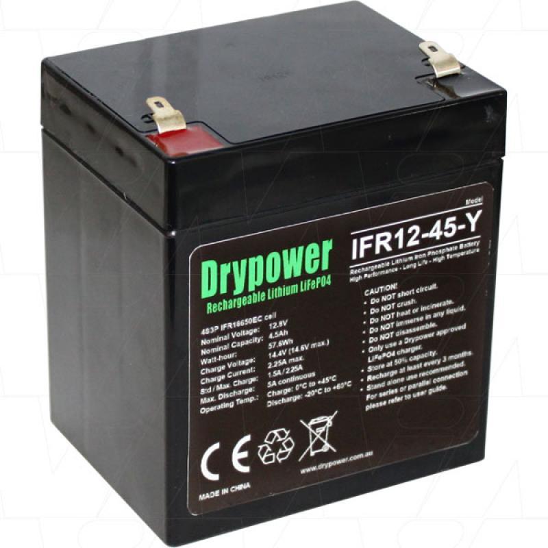 Drypower 12V 4.5Ah Lithium Iron Phosphate Battery