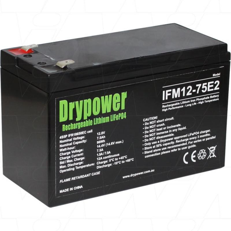Drypower 12V 7.5Ah Lithium Iron Phosphate Battery