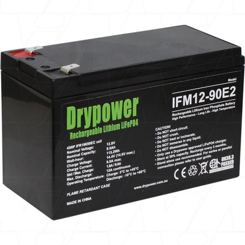 Drypower 12V 9Ah Lithium Iron Phosphate Battery
