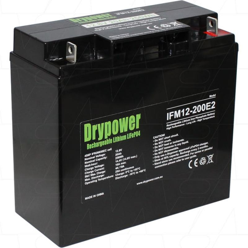 Drypower 12V 20Ah Lithium Iron Phosphate Battery
