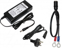 3A 12V LiFePO4 Charger with lugs