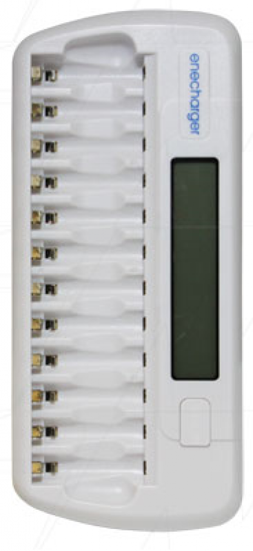 12 cell automatic quick charger/discharger for 1-12 AA & AAA NiMH cells