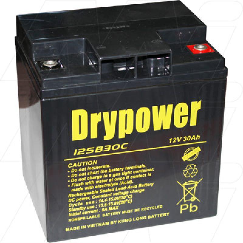 Drypower 12V 30Ah SLA (screw in terminals) - 12SB30C