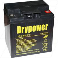 Drypower 12V 30Ah SLA (screw in terminals) - 12SB30C
