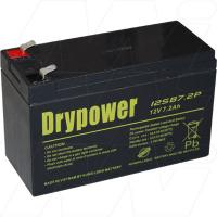 DRYPOWER 12SB7.2P-F2 - 12V, 7.2AH SEALED LEAD ACID BATTER FOR CYCLIC AND STANDBY