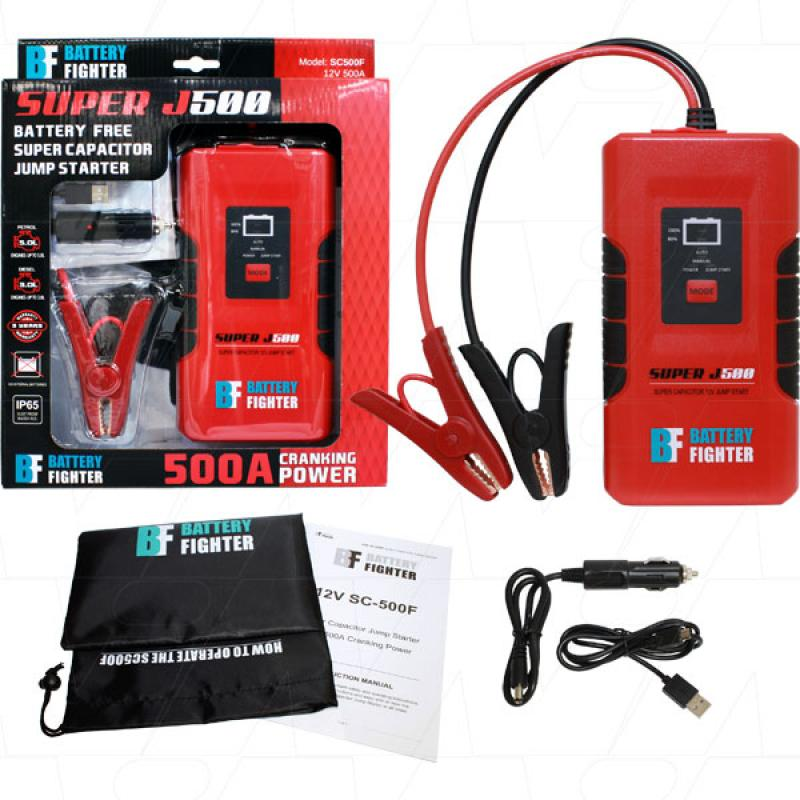 500A Super Capacitor Battery free Jump Starter SC500F