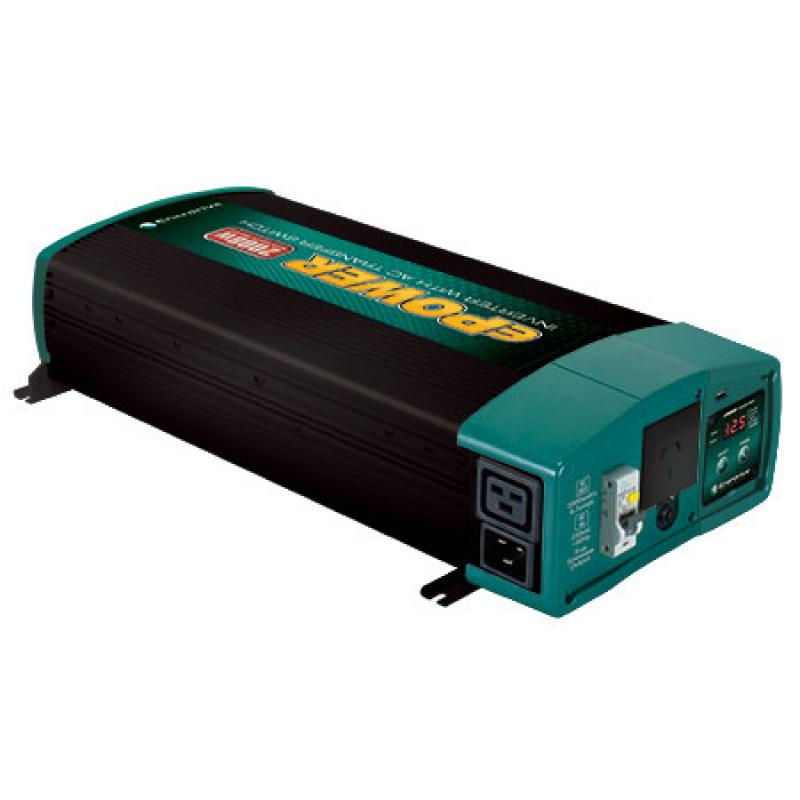 Enerdrive ePower 12V 2000W Pure Sine Inverter with AC Transfer & Safety Switch