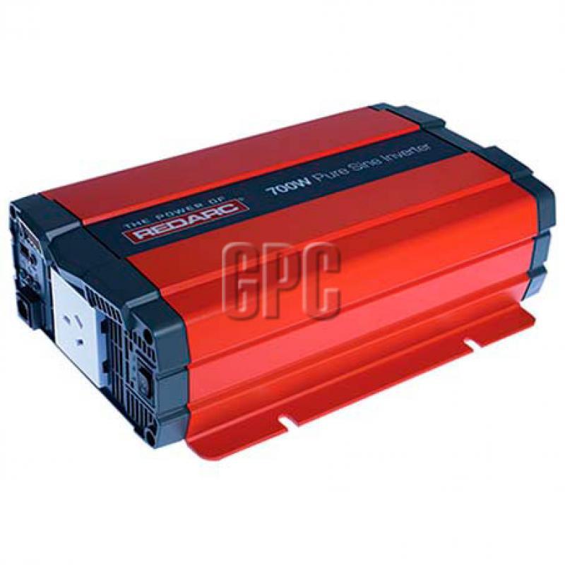 Redarc 12V 700W Pure Sine Wave Inverter - R-12-700RS