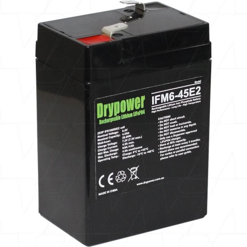 Drypower 6V 4.5Ah Lithium Iron Phosphate Battery