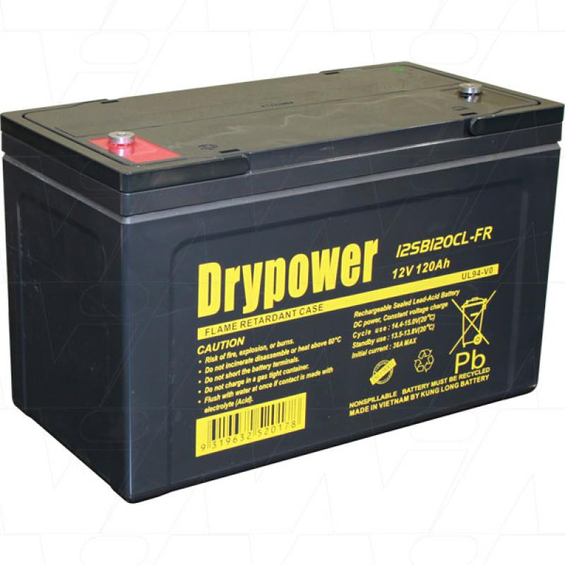 Drypower 12V 120AH Cyclic AGM - 12SB120CL-FR