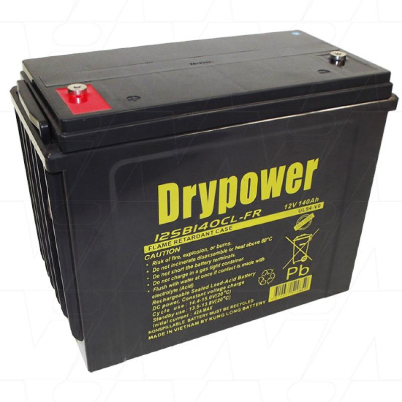 Drypower 12V 140Ah Cyclic AGM - 12SB140CL-FR