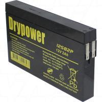 Drypower 12V 2Ah SLA AGM Battery - 12SB2P