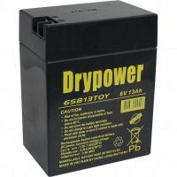 Drypower 6V 13Ah SLA AGM Battery for ride on toy cars - 6SB13TOY