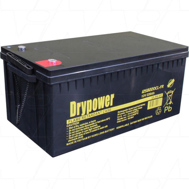 Drypower 12V 220Ah backup and cyclic use AGM battery - 12SB220CL-FR