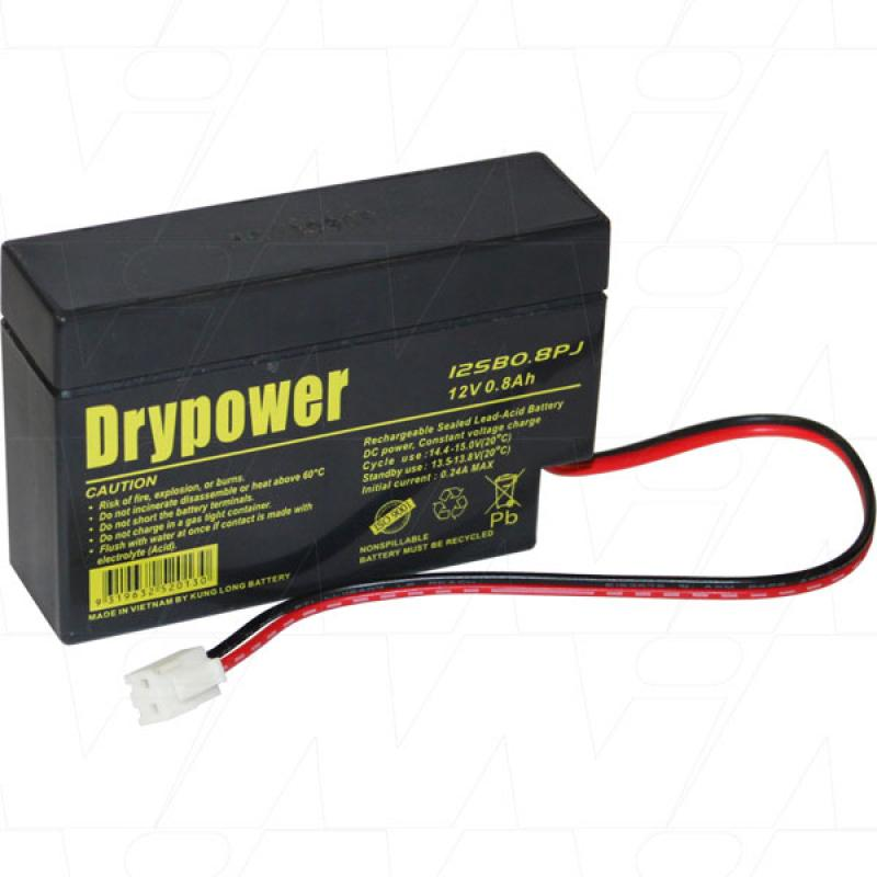 Drypower 12V 0.8AH SLA Battery - 12SB0.8PJ