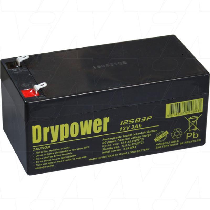 Drypower 12V 3Ah SLA Battery - 12SB3P