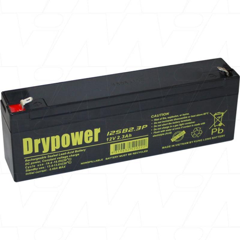 Drypower 12V 2.3Ah SLA Battery - 12SB2.3P