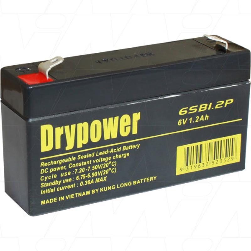 Drypower 6V 1.2Ah SLA Battery - 6SB1.2P
