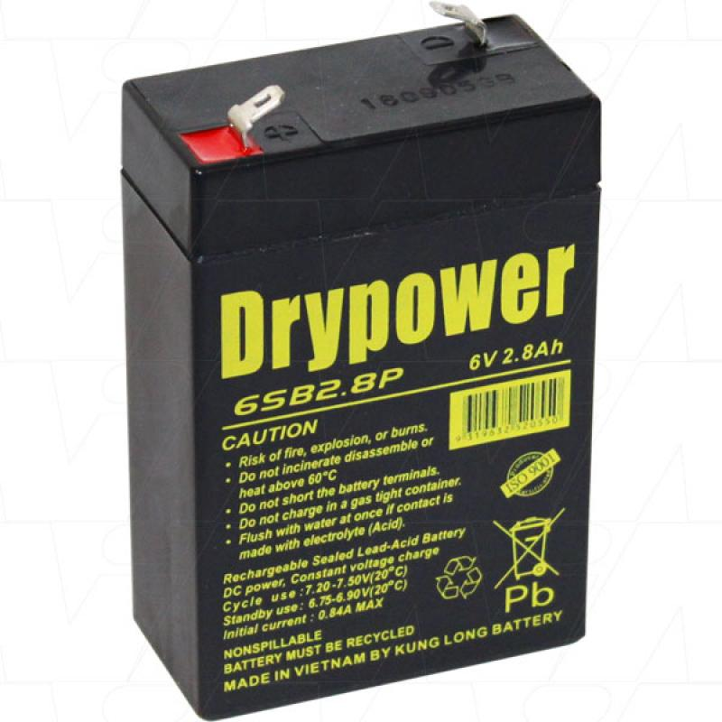 Drypower 6V 2.8Ah SLA Battery - 6SB2.8P