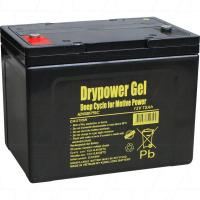 Drypower 12V 75Ah Deep Cycle Gel Battery - 12GB75C