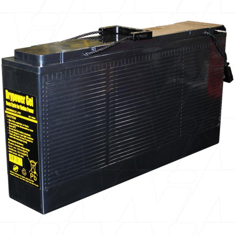 Drypower 12V 160Ah Slimline Deep Cycle Gel Battery - 12GB160-FR